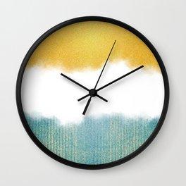 Teahupo'o, sea and sand Wall Clock