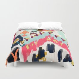 Bohemian Tribal Painting Duvet Cover