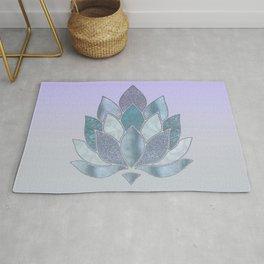 Elegant Glamorous Pastel Lotus Flower Rug