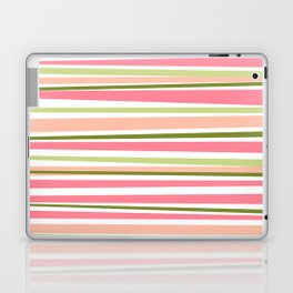 Modern watermelon colors stripes pattern  Laptop & iPad Skin
