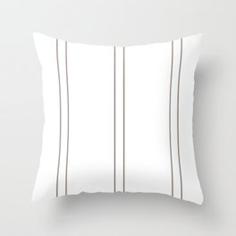 Brown Lines Throw Pillow
