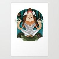 Hypnos God of Feelin' Groovy Art Print