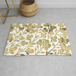 Cherry Blossoms – Gold Palette Rug