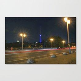 Nocturnal Landscape of Berlin Canvas Print