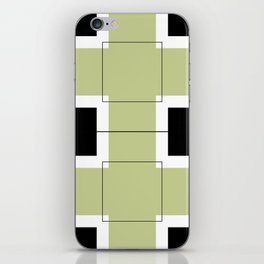 White Hairline Squares in Light Sand iPhone Skin