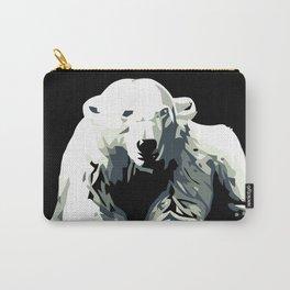 Vintage vector Zoo ad Basel polar bear Carry-All Pouch
