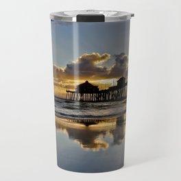 Surf City Sunsets 11/25/15  ~  Sunset at the Huntington Beach Pier Travel Mug