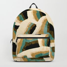 Persian Floral Pattern Low Poly Geometric Triangles  Backpack