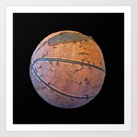 basketball Art Prints featuring Basketball by gbcimages