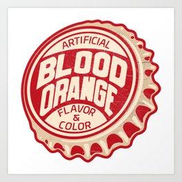 Vintage Blood Orange Soda Pop Bottle Cap Art Print