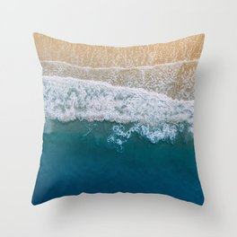Water on the Beach (Color) Throw Pillow