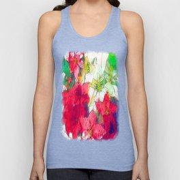 Mixed color Poinsettias 1 Serene Unisex Tank Top