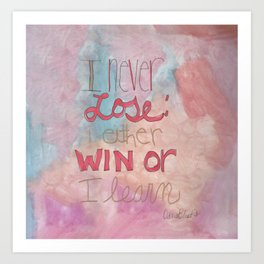 Quoteables #9 - Win or Learn on Watercolor Art Print