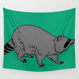 The Sly Racoon Wall Tapestry