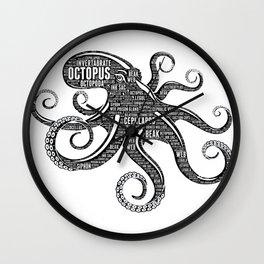 OCTOPUS - the intelligent eight-arm mollusc Wall Clock