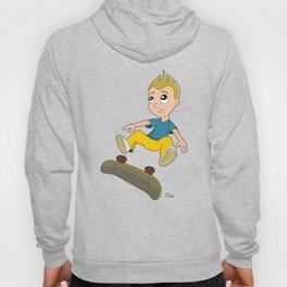 Skater boy cartoon Hoody