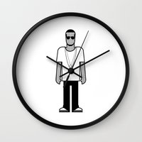 jay z Wall Clocks featuring Jay Z by Band Land