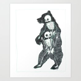 Bear Animus Art Print