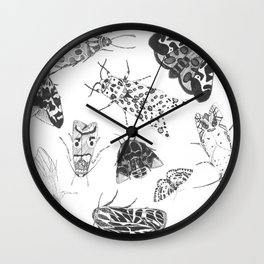 Moth Collection Wall Clock
