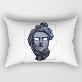 Female Venetian Mask | Watercolor and Colored Pencil  Rectangular Pillow