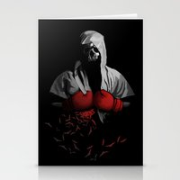 boxing Stationery Cards featuring Death Boxing by tshirtsz