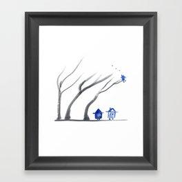 Little Hut Smoking Framed Art Print