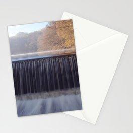 misty sunrise waterfall Stationery Cards