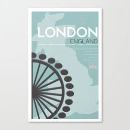 London Poster Canvas Print