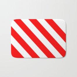 Red White Stripe Bath Mat