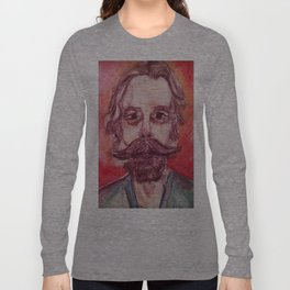 Bob Weir Watercolor Portrait Grateful Dead Long Sleeve T-shirt