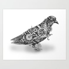 Roly the Steampunk Pigeon Art Print