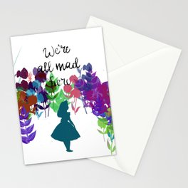 We're all Mad Here (Alice in Wonderland) Stationery Cards