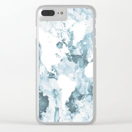 Design 103 World Map Clear iPhone Case