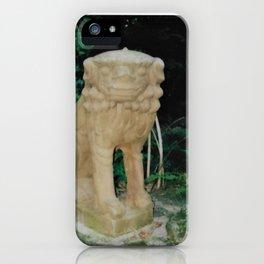 Morris Arboretum Philadelphia Chinese Guardian Lion Shishi Instant Photography iPhone Case