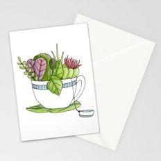 Succulent Tea Stationery Cards
