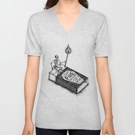 LIGHT YOUR FIRE BEFORE YOU ARE DEAD Unisex V-Neck