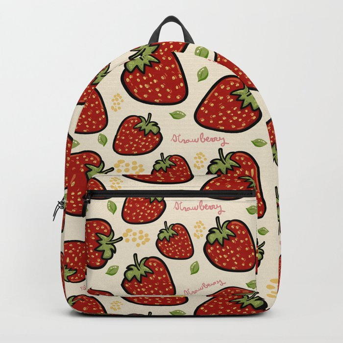 Strawberries pattern Backpack