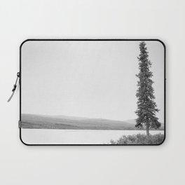 B&W Lone Spruce Tree Laptop Sleeve