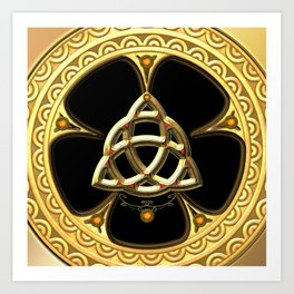 Decorative celtic knot Art Print