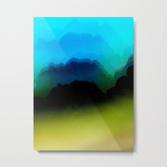 Misty Mountain View Metal Print