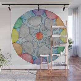 Interplanetary Elephants with Balloons Wall Mural