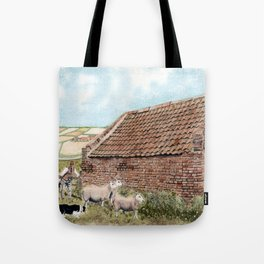 Farm Shed with Sheep Tote Bag
