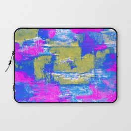 Just Relax - Abstract, pink, blue and yellow painting Laptop Sleeve