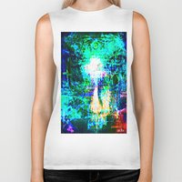 """hologram Biker Tanks featuring """" The voice  is a second face"""" by shiva camille"""