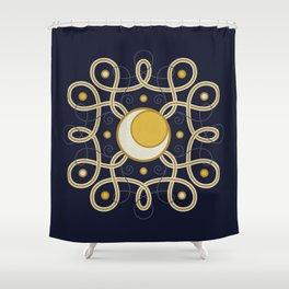 Celestial Convergence Shower Curtain