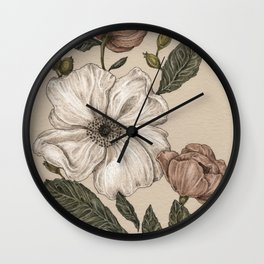 Floral Laurel Wall Clock