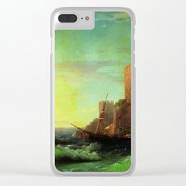 The Tower Classical Masterpiece by Ivan Constantinovich Aivazovsky Clear iPhone Case