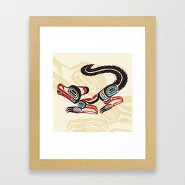 Salish Fox Framed Art Print