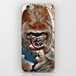 Thinking Gorilla iPhone Skin