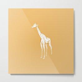 geometric giraffe Metal Print